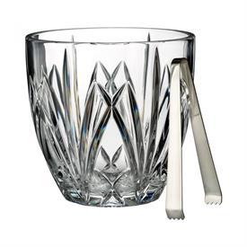 ",_BROOKSIDE BY MARQUIS - CLEAR ICE BUCKET WITH TONGS. 6.6"" TALL, 6.7"" WIDE. MSRP $150.00"