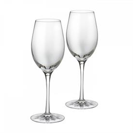 ",_CLEAR LIGHT WHITE WINE PAIR. EACH GLASS STANDS 9.5"" TALL. MSRP $240"