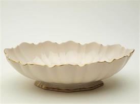"10.5"" OVAL BOWL W/GOLD"