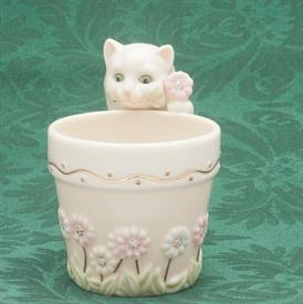CURIOUS KITTY FLOWER POT TEA LIGHT