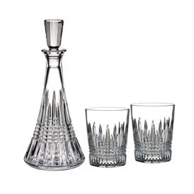 -DECANTER & DOUBLE OLD FASHIONED GLASS SET. INCLUDES ONE 32 OUNCE DECANTER AND 2 DOUBLE OLD FASHIONED TUMBLERS