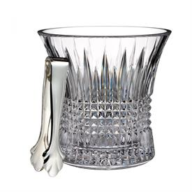 "-ICE BUCKET WITH TONGS. 7.6"" TALL"