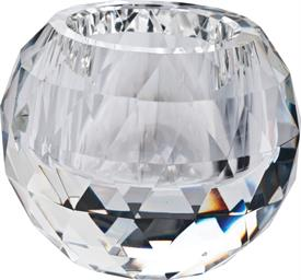 "_,CUT BALL CLEAR CRYSTAL VOTIVE 4.5"" WAS $35.00 CRYSTAL BY OLEG CASSINI"