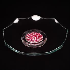 "_7"" RUBY CENTER CRYSTAL FOOTED BOWL. WAS $45"