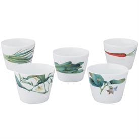 -SET OF 5 JAPANESE CUPS, 7 OZ. CAPACITY