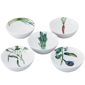 "-SET OF FIVE 5 1/2"" BOWLS"