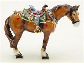 "-,1013145 BROWN HORSE 2 3/4""T X 4""L"
