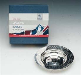 """,_CARRS SHEFFIELD STERLING 2012 DIAMOND JUBILLEE 5"""" DRAKE'S DISH. 2.99 TROY OUNCES.RETAIL PRICE $468"""