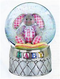"-,2704 RABBIT WATERGLOBE - PLAYS ""BRAHMS LULLABY"""
