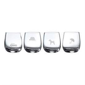 -GLASS TUMBLERS S/4MOT