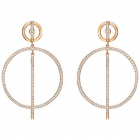 _5238200 FLASH ROSE GOLD POST EARRINGS