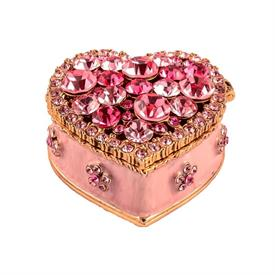 "_,PINK HEART TRINKET BOX. 1.5"" WIDE, 1"" TALL. MSRP $39.99 MADE BY CIEL"