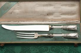 "ROAST CARVING SET 800 FINE SILVER MADE IN GERMAN 13"" LONG MONOGRAMMED ""B"" CONDITION A 5 OUT OF 10 BLADE HAS SOME IMPERFECTIONS"