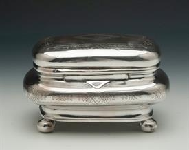""",BOX GERMAN SILVER AROUND 800 FINE 80% PURE 8.25 TROY OUNCES 6"""" LONG BY 4.5"""" WIDE BY 3.5"""" TALL"""