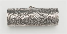 ",NUSUAL 800 FINE 80% SILVER ORNATE FIGURAL BOX 4"" LONG BY 1.5"" TALL 3.55 TROY OUNCES MADE IN GERMANY"