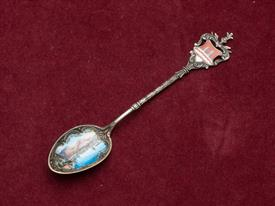"LAGO DI GORDA - RIVA GERMAN MADE 800 FINE SOUVENIR SPOON SILVER 5.25"" LONG"