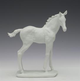 ",603 BISQUE FOAL IN WHITE. ARTIST SIGNED. 6.4"" TALL, 5.75"" LONG, 2.2"" WIDE"