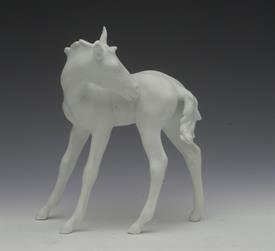 ",415 FOAL IN WHITE BISQUE. 6"" TALL, 5.25"" LONG, 2.5"" WIDE"