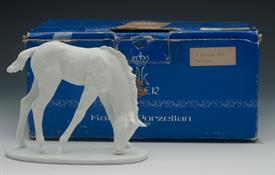 ",666 FOAL IN WHITE BISQUE. ARTIST SIGNED. 4.8"" TALL, 5.75"" LONG, 2.75"" WIDE"