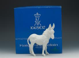 ",485 DONKEY IN WHITE BISQUE WITH ORIGINAL BOX. 6.25"" TALL, 5.8"" LONG, 2.75 WIDE"