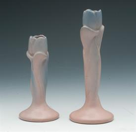 "TULIP CANDLE HOLDERS PAIR (8""T AND 6""T)"