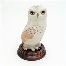 ",40122 'SNOWY OWL' FIGURINE. 4.6"" TALL, 2.8"" LONG, 2.6"" WIDE"