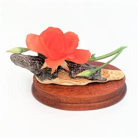 ",200-55 DIANE LEWIS 'RAINBOW OF ROSES' SALMON ROSE FIGURINE. 2.6"" TALL, 5.7"" LONG, 2.8"" WIDE"
