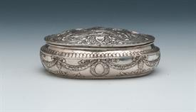 ",BOX FRENCH SILVER 6.75 TROY OUNCES LATE 18TH CENTURY5"" LONG X 3.5"" WIDE BY 1.5"" TALL"