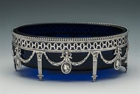 ",BLUE COBALT GLASS OVAL BOWL 7"" LONG BY 5"" WIDE BY 2.5"" HIGH 5.80 TROY OUNCES FRENCH FROM YEAR 1770"