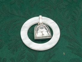 BIRTH YEAR STERLING SILVER WITH WHITE PLASTIC TEETHING RING