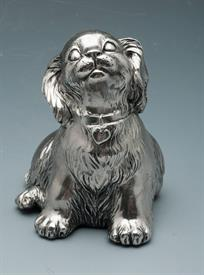 "PUPPY MUSICAL 2-3/4"" TALL SILVER PLATED"