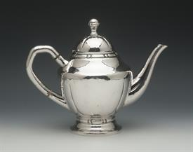 ",TEA POT MADE IN DENMARK SILVER 14.35 TROY OUNCES 8"" TALL HANDLE NOT COMPLETELY TIGHT"