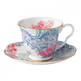 -SPRING BLOSSOM TEA CUP & SAUCER
