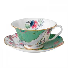 -BUTTERFLY POSY TEA CUP & SAUCER