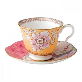 -FLORAL BOUQUET TEA CUP & SAUCER
