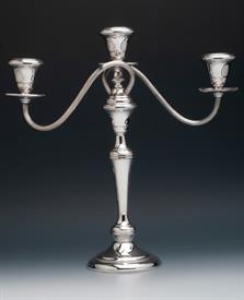 "Wallace Sterling Silver Candelabrum holow filled with cement 13.5"" tall by 13"" span across condition is nice."