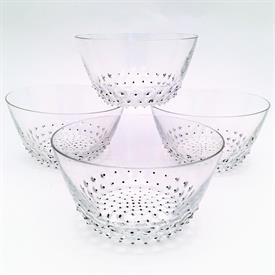 ",""CACTUS-2"" SET OF 4 FINGER BOWLS. SIGNED & DESIGNED BY RENE LALIQUE CA. 1934. STYLE #3144. EACH MEASURES 4.8"" WIDE & 2.6"" TALL"