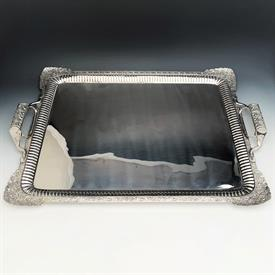 """,Large Waiter/Tray 26.5"""" x 17.5"""" 95.10 troy Ounces of 84% Pure Silver made in year 1835 Condition is a 9 out of 10 fully polished & restored"""