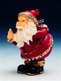 -1013099 JEWELED SANTA TRINKET BOX