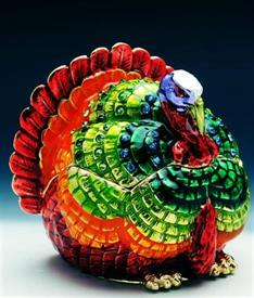 "-,1040429 jeweled turkey box 2 1/2""X   2 1/4""X 2"""