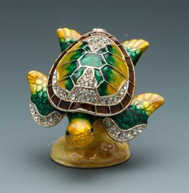 "-1141911 SEA TURTLE JEWELED.YELLOW AND GREEN.2""T 2 1/2""W"
