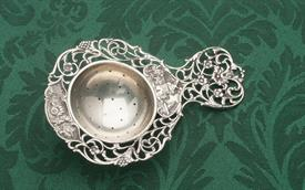 ",DUTCH OLD WORLD TEA STRAINER MADE IN EUROPE STERLING SILVER UNMARKED 5.25"" LONG 1.40 TROY OUNCES"