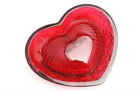 ",_RED HEART LOVE MINI BOWL. .67"" TALL X 3.82"" LONG"