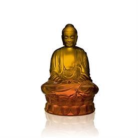 -SMALL AMBER BUDDHA