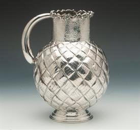 ",ITALIAN 90% PURE SILVER PINEAPPLE PATTERN SILVER WATER PITCHER 19.30 TROY OUNCES 8"" TALL"