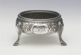 "VICTORIAN SALT CELLAR STERLING SILVER MADE IN THE 19TH CENTURY .90 TROY OUNCES 2.25"" DIAMETER"