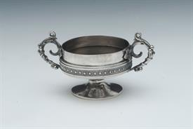 "BIGELOW & KENNARD & CO. STERLING SILVER SALT CELLARS CONTAIN 2 T.OZ 3.75"" ACROSS HANDLE TO HANDLE 1.9"" TALL"