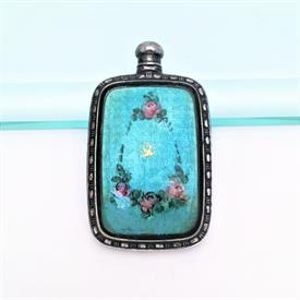",RARE LATE VICTORIAN ERA WEBSTER COMPANY STERLING & GUILLOCHE ENAMEL PERFUME/SCENT BOTTLE. 1.8"" TALL, 1.2"" WIDE, .25"" DEEP. .36 OZT"
