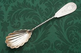 "BERRY SERVING SPOON 1.5 TROY OUNCES OF COIN SILVER 9"" LONG"