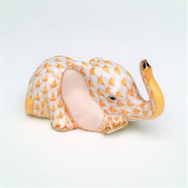 """,YELLOW BABY ELEPHANT CALF. HAND PATINED YELLOW FISHNET WITH GOLD TRIM. #15561-0-00/SVHEM B99. 3.25"""" LONG X 1.5"""" TALL"""